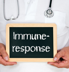Immune response - doctor with blackboard