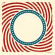 Swirly stripes and stars USA grunge background