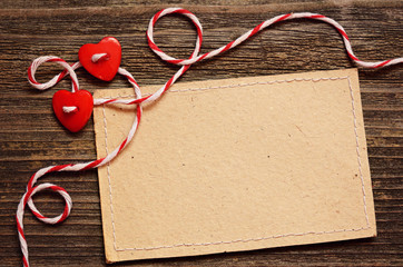 Two hearts and a card