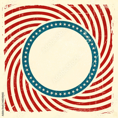Swirly stripes and stars USA grunge background
