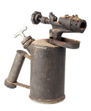 Vintage old rusty blowtorch poster