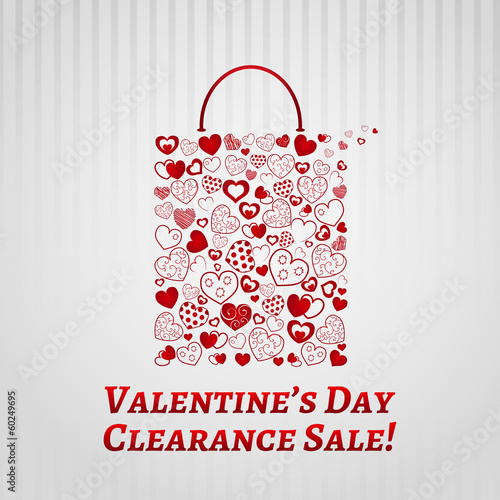 Shopping bag for Valentines day