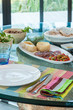 Table setting in summer holiday house - 60249857