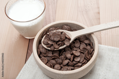 cereal in bowl with milk