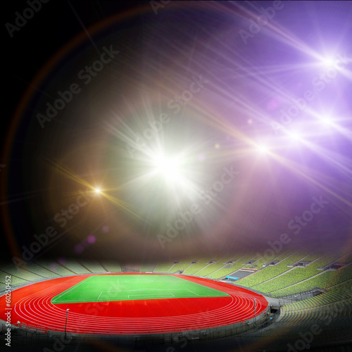 soccer stadium with the bright lights Poster