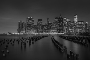 Lower Manhattan lights
