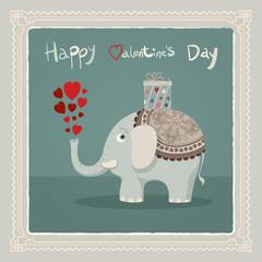 Valentine's day elephant