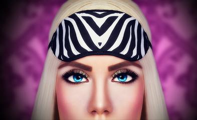 Beautiful eyes of lovely girl