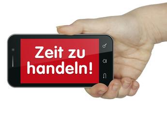 Zeit zu handeln. mobil