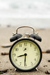 Time Alarm clock at beach
