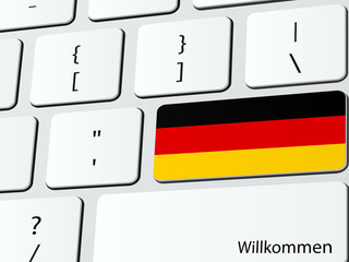Welcome to Germany computer icon keyboard