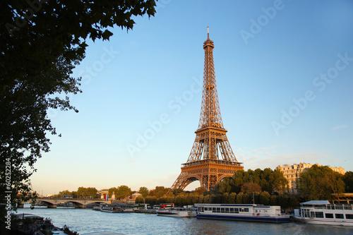 Eiffel Tower with Seine in Paris, France - 60252284