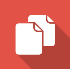 Copy - Flat icon for web and mobile apps