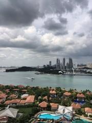 прекрасный вид на Сингапур с острова Синтоза