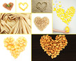 Collage of heart-shaped things