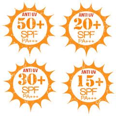 Set of Anti-UV stamps