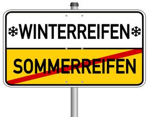 Winterreifen Sommerreifen Schild  #140113-svg03