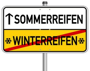 Sommerreifen Winterreifen Schild  #140113-svg02