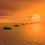 Fototapety Steps to the sun - 3D render