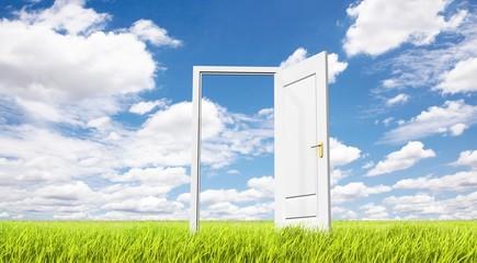 草原とドア