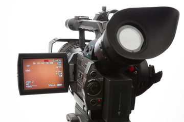 video camera with screen