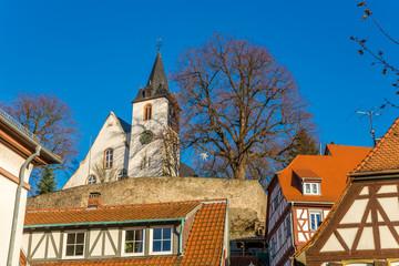 Zwingenberg Fachwerk und Bergkirche