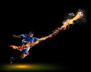 Football player with ball