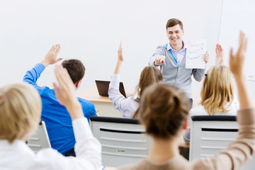 Teacher at lesson