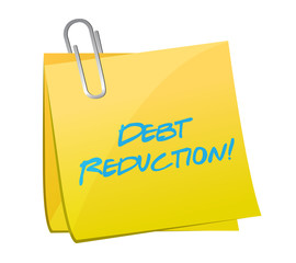 debt reduction post illustration design
