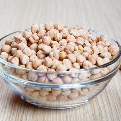 Dried Chickpeas in a bowl