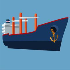 Flat Cargo ship