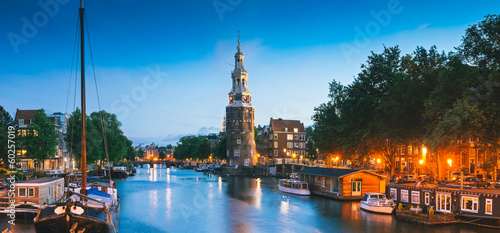 Fotobehang Amsterdam Montlebaanstoren Tower, Amsterdam