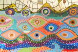Colorful glazed tile background