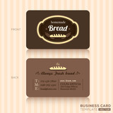vintage business card for bakery shop