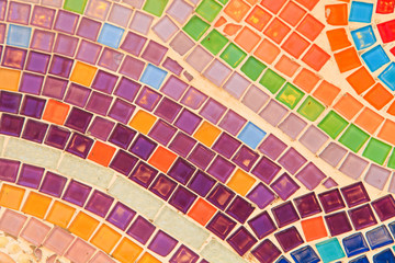 Colorful glazed tile background