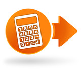 calculatrice sur symbole web orange