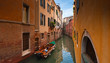 Traditional 16th century villas, Grand Canal in Venice.
