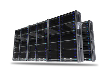 Servers Rack Isolated