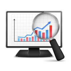 Computer Monitor with Graph