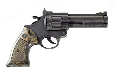 Пистолет на белом фоне