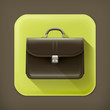 Brief case, long shadow vector icon