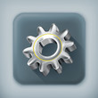 Gear, long shadow vector icon
