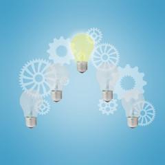 Light bulbs as ideas concept