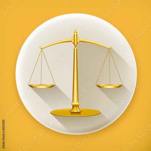 Weight Scale, long shadow vector icon