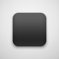 Black Abstract Blank App Icon Button Template