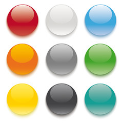 9 Colored Buttons