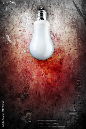 Background with old wall and BULB