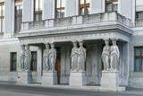 balcony with caryatids, Vienna poster