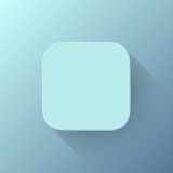 Blue Abstract App Icon Blank Template