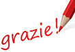 "Stift mit Text "" grazie! """